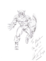 WonderCon 2008 - Herb Trimpe Captain America Sketch Comic Art