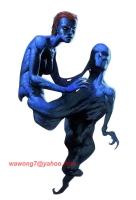 Kev Walker - X-Men Mystique Cardart $300 Comic Art