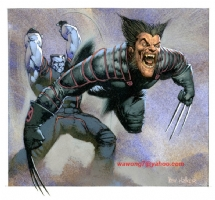 Kev Walker - Wolverine and Collosus Comic Art