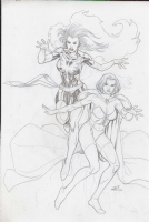 Lan Medina - Dark Phoenix and White Queen Comic Art