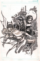 Barbara Gordon Batgirl and Dick Grayson Nightwing - Ken Lashley Comic Art