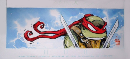 Leonardo Watercolor (Ninja Turtles) Comic Art