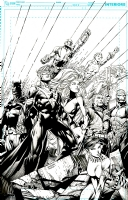 Justice League International Cover #6 David Finch pencils Richard Friend inks, Comic Art