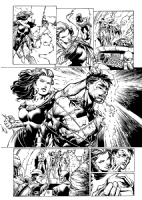 Forever Evil original art!!  David Finch Richard Friend Geoff Johns NIGHTWING Exposed, Comic Art