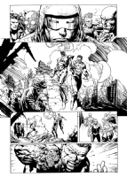 Forever Evil original art!!  David Finch Richard Friend Geoff Johns Cold Power Ring and Firestorm, Comic Art