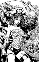 Wonder Woman 36 variant cover David Finch Richard Friend Comic Art