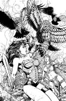 Wonder Woman COVER 37 David Finch Richard Friend Comic Art
