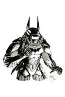 Batman Mech Armor Richard Friend all, Comic Art