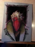 Grifter color illustration Richard Friend photo detail, Comic Art