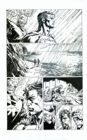 Forever Evil David Finch Richard Friend issue 7 page a Ultraman and Firestorm, Comic Art