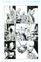 Forever Evil David Finch Richard Friend issue 6 page a Nightwing Batman Catwoman GREAT page, Comic Art