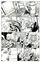 Forever Evil 1 David Finch pencils Richard Friend inks, Comic Art