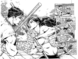 Wonder Woman 37 art David Finch Richard Friend Superman Wonder Woman, Comic Art