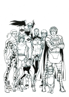 Giuseppe Camuncoli and Richard Friend Multiversity Pin Up Earth 48, Comic Art