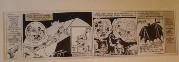 1943 Batman strip Comic Art