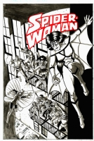 Spider-Woman #50 Cover re-imaging!, Comic Art