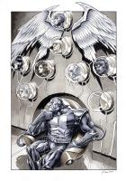 Apocalypse's Trophy Wall by Daniel Govar, Comic Art