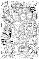 Oppenheimer's Trophy Wall (Manhattan Projects) by Nick Pitarra, Comic Art