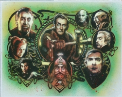 Van Helsing's Trophy Wall Painting by Tony Harris, Comic Art