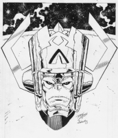 Galactus' head as trophy by Lim/Rubinstein Comic Art