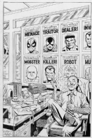 J. Jonah Jameson's Trophy Wall by Pollard and Rubinstein Comic Art