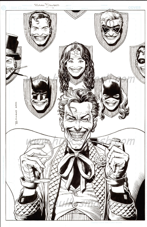 Brian Bolland Joker Trophy Wall Commission Comic Art