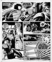 Gaze Into The Fist of Dredd by Brian Bolland, Comic Art