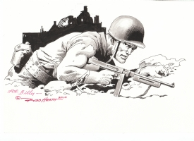Sgt. Rock by Russ Heath Comic Art