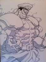 Final M. Bison Commission  Comic Art