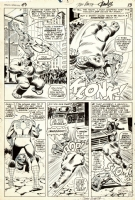 Amazing Spider-man #43 page 11 Romita Rhino Comic Art