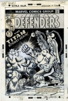 Defenders #12 Cover Romita Sr Hulk Comic Art
