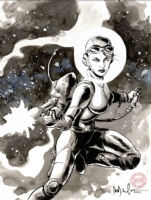 Space Girl by David Wachter Comic Art