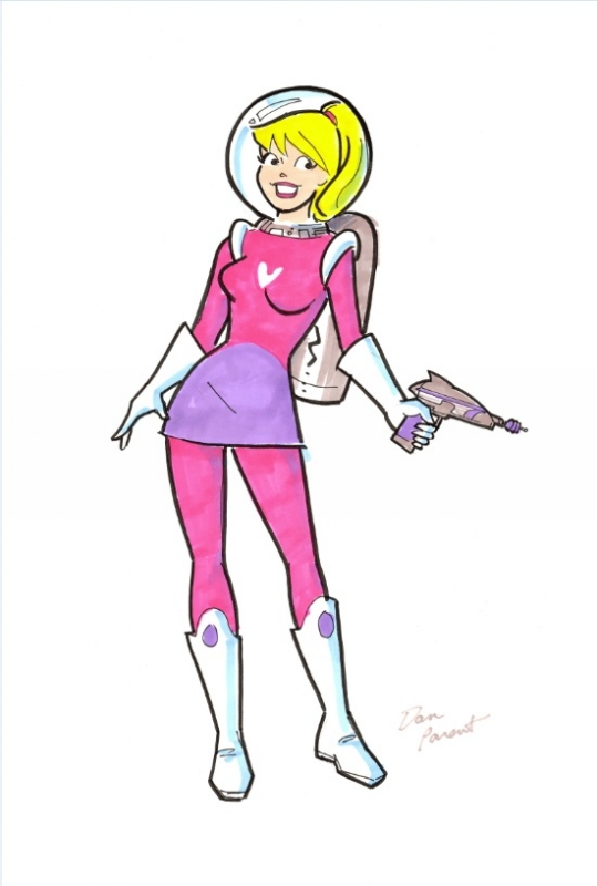 Betty as Space Girl by Dan Parent Comic Art