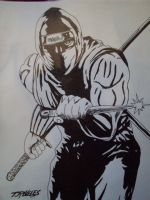 Ninja gaiden - Ryu Hayabusa - ink by Timothy Reveles , Comic Art