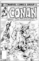 Conan #123 cover Comic Art