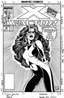 X-Factor #48 (with logo) Comic Art
