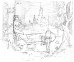 Flash Gordon prelim Comic Art