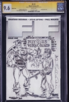 Captain America and Bucky - F.F. sketch cover by Allen Bellman Comic Art