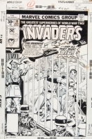 Invaders #19 Cover Comic Art