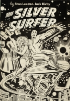 Silver Surfer Graphic Novel cover Comic Art