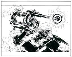Ghost Rider, Spirit of Vengeance (Johnny Blaze and Danny Ketch) Comic Art