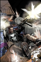 Punisher alley ambush color Comic Art