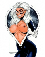 Black Cat Topless #3 (2005) Comic Art