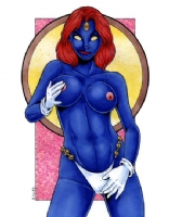 Mystique Topless Comic Art