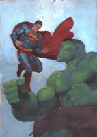 Hulk vs. Superman - Ariel Olivetti Comic Art