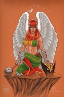 Hawkgirl by Michael McDaniel Comic Art