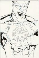Green Lantern 58 cover, Comic Art