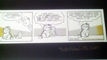 Garfield Original Comic Strip 1980 - Jim Davis Comic Art
