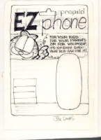 Garfield EZ Phone Package Design  - Jim Davis Comic Art