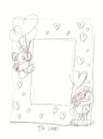 Garfield & Pookie Picture Frame Design - Jim Davis Comic Art